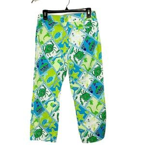 Lilly Pulitzer Starboard Patch Capri Pants size 6